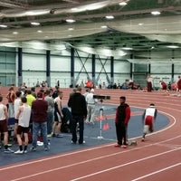 Photo taken at Multi-Sport Facility Horace Ashenfelter Indoor Track by John B. on 1/9/2015