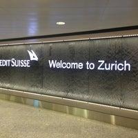 Photo taken at Zurich Airport (ZRH) by Pallope M. on 5/3/2013