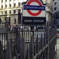 Photo taken at Bank London Underground and DLR Station by Tassos K. on 4/17/2013