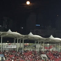 Photo taken at Tancheon Sports Complex Stadium by Yoonhee R. on 9/17/2016