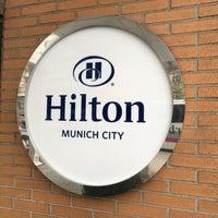 Photo taken at Hilton Munich City by Eric L. on 4/5/2016
