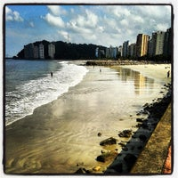 Photo taken at Praia do Gonzaguinha by Pedro Paulo D. on 4/27/2013