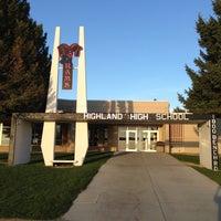 Photo taken at highland high school by Scott J. on 5/5/2013