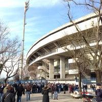 Photo taken at Stadio Marc'Antonio Bentegodi by Onofrio D. on 2/9/2013