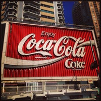 Photo taken at The Coca-Cola Billboard by Sandy T. on 10/12/2013