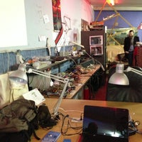 Photo taken at Hackerspace Brussels @hsbxl by Eric R. on 12/5/2012