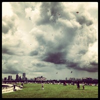 Photo taken at Marina Barrage by Daniel G. on 5/1/2013