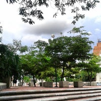 Photo taken at Plaza Alfredo Sadel by Mariesther S. on 6/14/2013