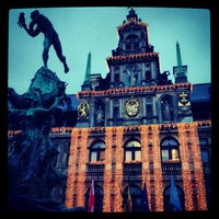 Photo taken at Antwerp City Hall by Dirk D. on 12/28/2012