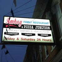 Photo taken at Amboy Family Restaurant & Pizza Junction by Steph M. on 12/28/2012