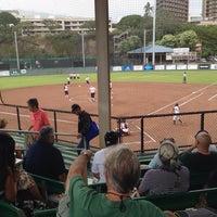 Photo taken at Rainbow Wahine Softball Stadium by Jimmy Y. on 4/20/2014