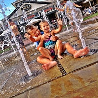Photo taken at Town Square Fountain by Joshua S. on 8/17/2013