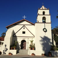 Photo taken at Mission San Buenaventura by Dom D. on 1/21/2013
