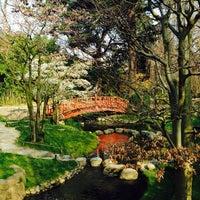 Photo taken at Jardins Albert Kahn by Margaux L. on 3/11/2014