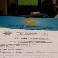 Photo taken at Colegio de Abogados de Lima by Joseph E. on 3/14/2015
