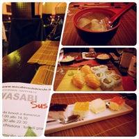 Photo taken at Wasabi Sushi by Valentina on 10/5/2014