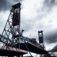 Photo taken at Hawthorne Bridge by Justin M. on 2/23/2013