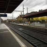 Photo taken at Bahnhof Zürich Tiefenbrunnen by Jean-Marc H. on 11/6/2016