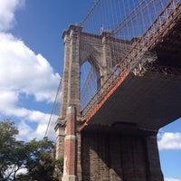 Photo taken at Under The Brooklyn Bridge by Brandon G. on 9/29/2013