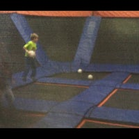 Photo taken at Sky Zone Indoor Trampoline Park by Marie S. on 10/6/2013