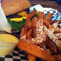 Photo taken at Bun Bun Gourmet Burger and Tea House by Joe C. on 9/30/2013
