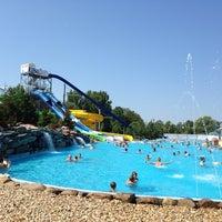 Photo taken at Lipóti termál és élményfürdő by Peter B. on 7/18/2014