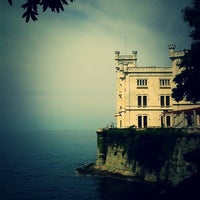 Photo taken at Castello di Miramare by Elena T. on 7/29/2013