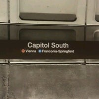 Photo taken at Capitol South Metro Station by Adam K. on 5/15/2013