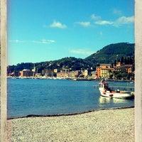 Photo taken at Lungomare di Santa Margherita Ligure by Camilla B. on 5/12/2013