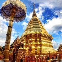 Photo taken at Wat Phrathat Doi Suthep by Samuel T. on 5/28/2013