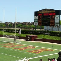 Photo taken at Clyde Abshier Stadium-DPISD by Ana S. on 4/13/2013