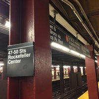 Photo taken at MTA Subway - 47th-50th St/Rockefeller Center (B/D/F/M) by Masashi S. on 4/26/2013