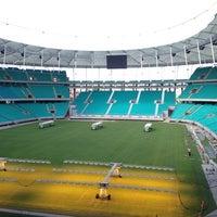 Photo taken at Itaipava Arena Fonte Nova by Jeancarlos M. on 6/8/2013