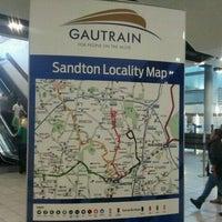 Photo taken at Gautrain Sandton Station by RespTourismSA on 8/20/2011