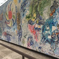 """Photo taken at Chagall Mosaic, """"The Four Seasons"""" by Garbo H. on 10/16/2016"""