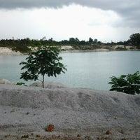 Photo taken at Tambang Kaolin, Belitung by Esti A. on 11/17/2012