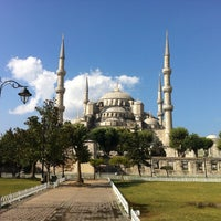Photo taken at Sultanahmet Square by Onur T. on 8/6/2013