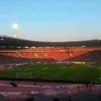 Photo taken at King Baudouin Stadium by Adrien D. on 6/7/2013