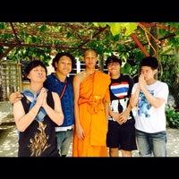 Photo taken at วัดโพธิ์พุฒตาล by Pae K. on 4/13/2014