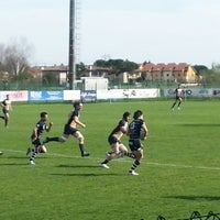Photo taken at Campi Petrarca Rugby by Gianluca Z. on 4/13/2013