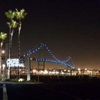 Photo taken at Vincent Thomas Bridge by irly k. on 9/14/2013