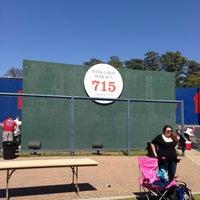 Photo taken at Hank Aaron 715 Home Run Marker by Myron P. on 4/1/2013