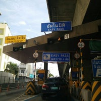 Photo taken at Surawong Toll Plaza by Pornthep N. on 7/15/2015