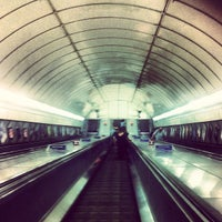 Photo taken at Angel London Underground Station by Liam D. on 7/11/2013