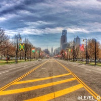 Photo taken at Benjamin Franklin Parkway by LEVEL 13 on 4/22/2014