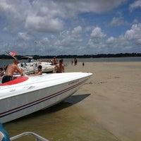 Photo taken at Beaufort Sandbar by Amy T. on 7/7/2013