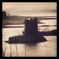 Photo taken at Castle Stalker View Cafe by Andrea D. on 1/9/2014