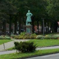 Photo taken at H Hansemannplatz by Tobias on 9/28/2012