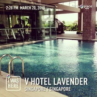 Photo taken at V Hotel Lavender by Cey C. on 3/20/2013