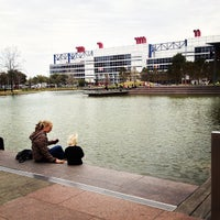 Photo taken at Discovery Green by Miki K. on 2/24/2013